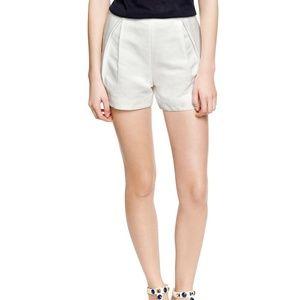 Tory Burch Size 6 White Linen Silk Blend Shorts